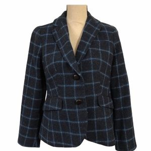 TALBOTS Petites Wool Blend Plaid